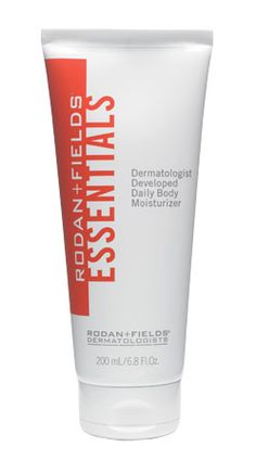Rodan + Fields Essentials! Honestly...my favorite body lotion ever! Smells fresh, leaves a really supple look to your skin and lasts all day. Why do you think I sell this stuff? I love it!