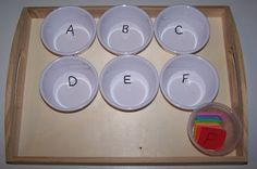 Sorting Letters Tot Tray