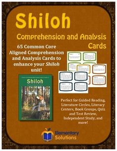 Shiloh Comprehension and Analysis Task Cards - CCSS Aligned!