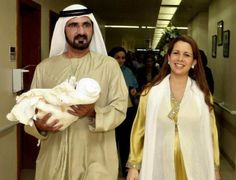 His Highness Sheikh Mohammed bin Rashid Al Maktoum, Vice President and Prime Minister of the UAE and Ruler of Dubai, and his wife Princess Haya bint Hussein