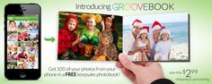 GrooveBook:  FREE Photobook with 100 Pictures from your Phone! FREE Shipping!