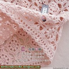 Crochet bolero with chart pattern