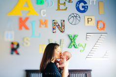 Awesome alphabet wall...(photo by Jessica Strickland www.jessicarstrickland.com)