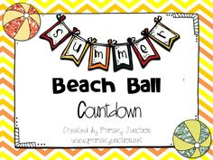 Free! Summer Beach Ball Countdown - Includes template for students to create a beach ball.  They are then posted in the classroom and removed at the end of each day until the last day of school!