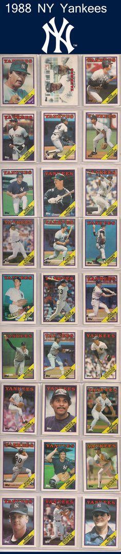 1988 NY Yankees - #1980s #NYY