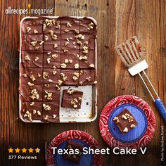 """""""This is the 'real' version of TX sheet cake that we grew up with here in Texas. If you want to try a treat, this is it!"""" - SEAST1122"""