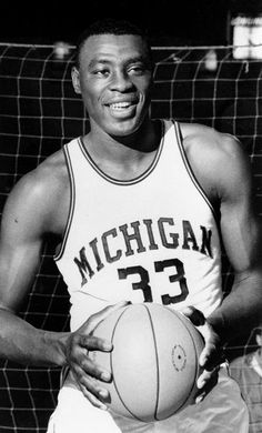 Cazzie Russell, former University of Michigan basketball star.  Averaged 30.8 points per game and was named College Basketball Player of the Year in 1966 by five different organizations including Sporting News, UPI and the AP.  Played professional basketball in the NBA for 12 seasons.  Is best remembered for his five seasons with the New York Knicks (1966 to 1971.)  Later coached high school, college and pro basketball. College Basketball, Colleg Basketbal, 12 Season