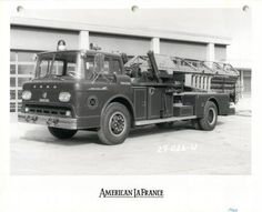 Des Moines Fire Department, Ford American La France fire truck, early 1960's
