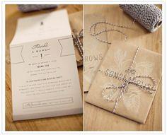 custom parchment paper wedding invites