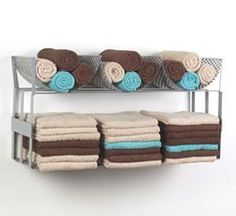 Towel storage and holder. I like these colours