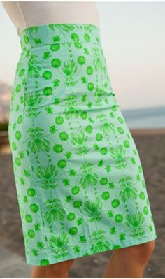 Patterned pencil skirt from Shabby Apple!