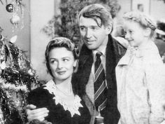 """Donna Reed; Jimmy Stewart ~ It's a Wonderful Life """"Every time a bell rings, an angel gets its wings"""""""