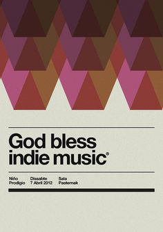 Holy week music poster by MARIN DSGN