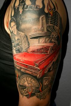 #TATTOOS and #BODY #ART. Elvis tribute tattoo