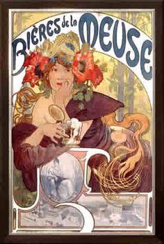 one of my favourite Alphonse Mucha Art Nouveau posters