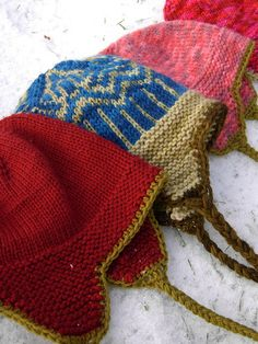 easy ear flap hat - Thorpe ...great for a quick knit project and good enough to give as a present.