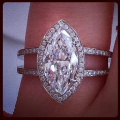 An icy marquise diamond #platinumdesign engagement ring
