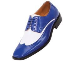 Amazon.com: Amali Mens Two-Tone Royal Blue and White Oxford Dress Shoe: Style P1056 Royal Blue-052: Shoes