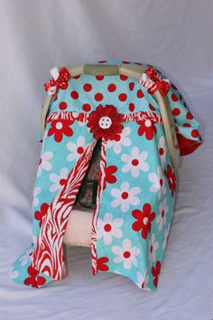 Car seat canopy with zipper.