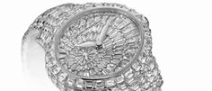 Girard-Perregaux Cat's Eye pieza revestida de un manto integral de diamantes blancos.