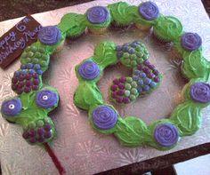 Snake Cupcake Cake