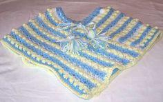 crochet baby clothing  | Childrens Crochet Poncho | All For Crochet