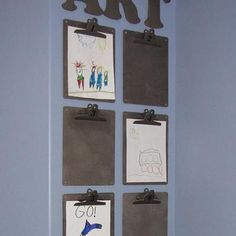 An fun and flexible way to display the kid's art
