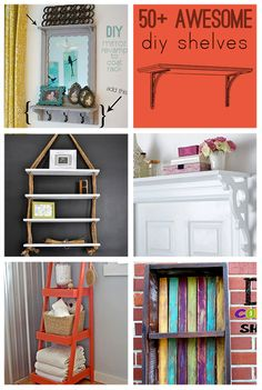 over 50 cool DIY shelves to make @savedbyloves #woodworking #repurpose #reclaimed