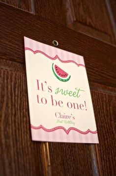 Watermelon Fruit Summer Girl 1st Birthday Party Planning Ideas