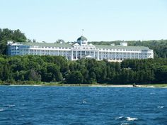 The view of the Grand Hotel from the St. Ignace ferry! #puremichigan