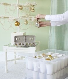 Christmas Ornament Storage // Live Simply by Annie