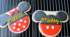 Mickey and Minnie Sugar Cookies