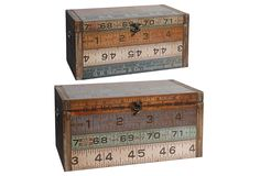 One Kings Lane - Industrial Strength - Asst. of 2 Ruler Chests