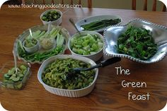 """""""The Green Feast"""" - St. Patrick's Day idea"""