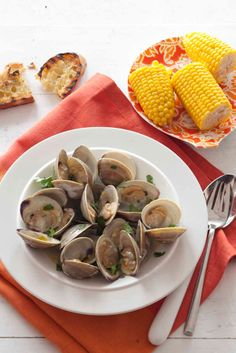 Grilled Clams with Garlic recipe