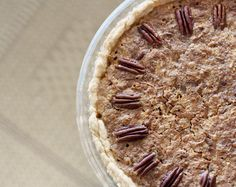 Coconut Pecan Pie with Walnuts and Toffee
