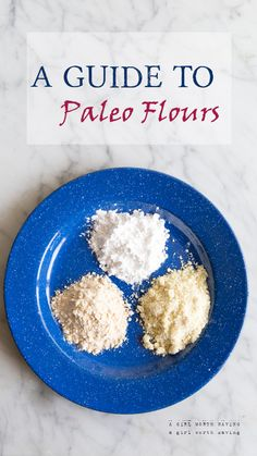 Guide to Paleo Flours — www.agirlworthsaving.net #paleo #glutenfree