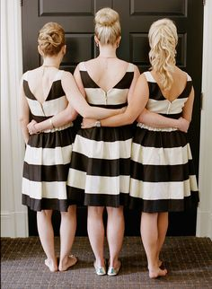 Mix and match bridesmaid hairstyles via @stylemepretty