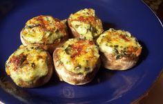 Spinach-Artichoke Dip Stuffed Mushrooms