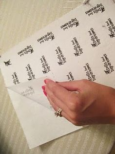 Make your own fabric labels....i love this idea