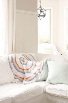 Pastel Rainbow Vintage Blanket.