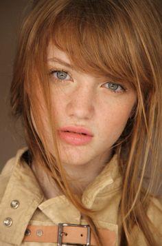 freckl, redhead rouss, red hair, redhead unit, beauti, redhair, bang, portrait, stefani