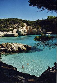 Menorca, Cala Mitjaneta, Spain.