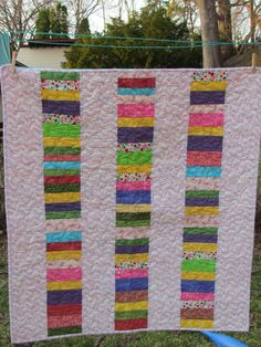 Baby Quilt for Girl by ThatsSewBeth on Etsy, $49.99