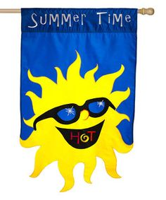 Look what I found on #zulily! Sunshine 'Summer Time' Outdoor Flag by Evergreen #zulilyfinds