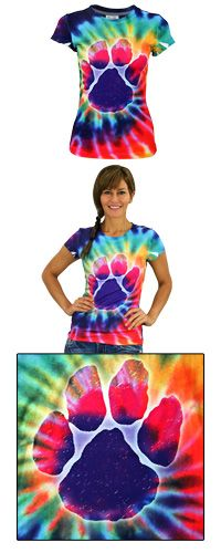 Purple Paw Tie-Dye Tee at The Animal Rescue Site