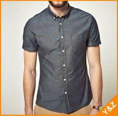 Cotton denim Dress Short Sleeve Shirts