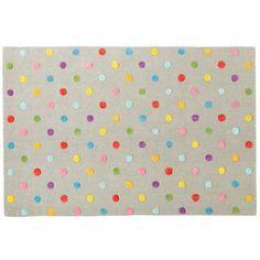 Candy Dot rug from Land of Nod always looks great!  #NodWishlistSweeps