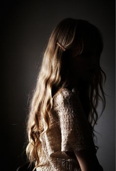 dark and light, window light long hair Photo by Jeff Allan deadstock hair barrettes | _Lawrence on Flickr
