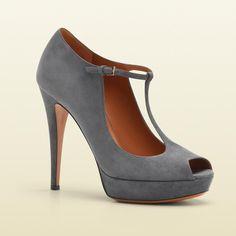 Gucci Betty T-Strap Open Toe High Heel Platform Pump